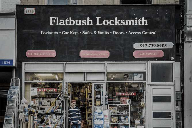 Locksmith Shop in Flatbush, Brooklyn